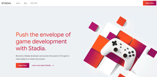 Google Stadia Developers Page
