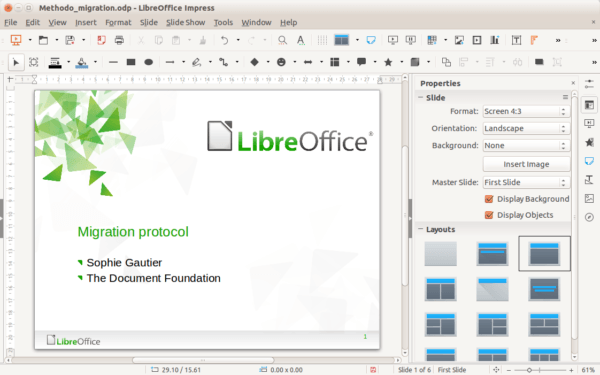 Libre Office Interface