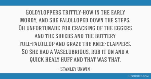 Stanley Unwin Intentional Bad Grammar