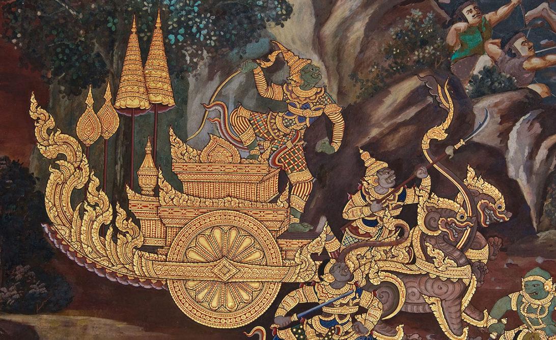 Thai Ramakien Pra Ram on his Chariot