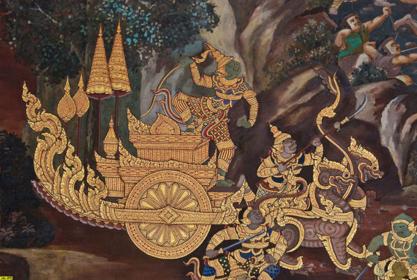 Thai Ramakien Pra Ram on his Chariot