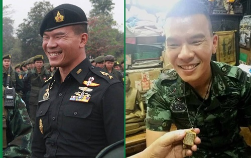 soldierss aved by miracle wore a photo of Ajarn Tiang